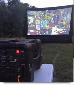 Outdoor-movie-party